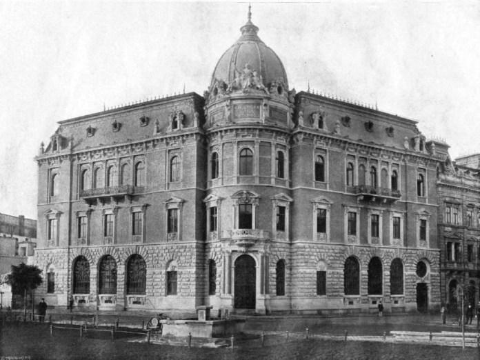 Перше відоме зображення Галицької ощадної каси. Фото Е. Тшемеського, бл. 1894 року