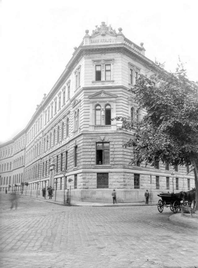 Банк Крайовий у Львові. Фото кін. XIX ст.