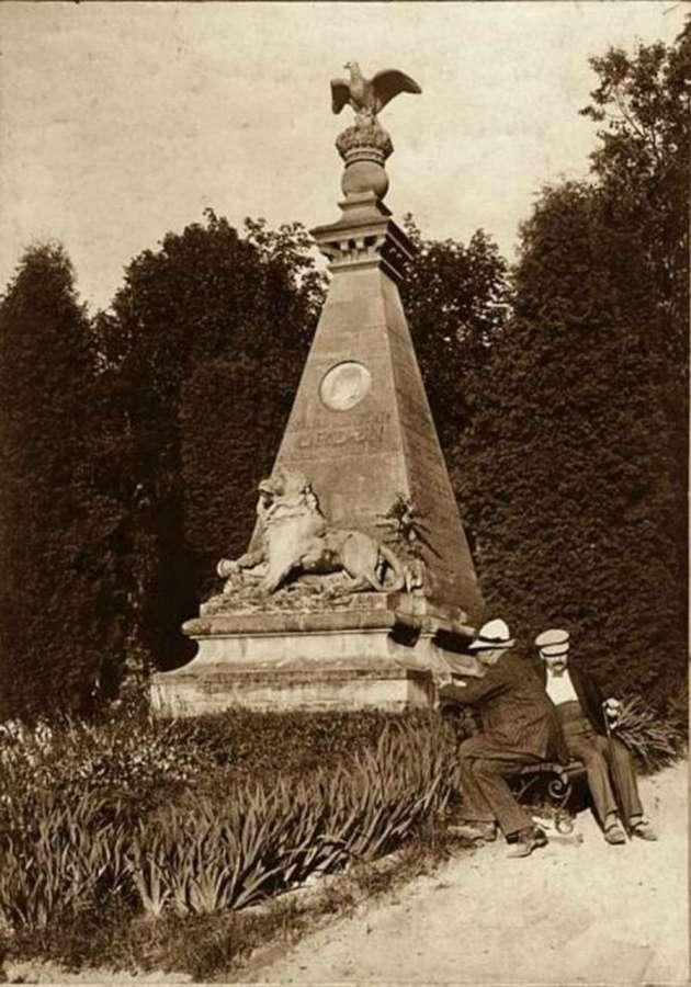 На могилі Ордона. Фото поч. XX ст.