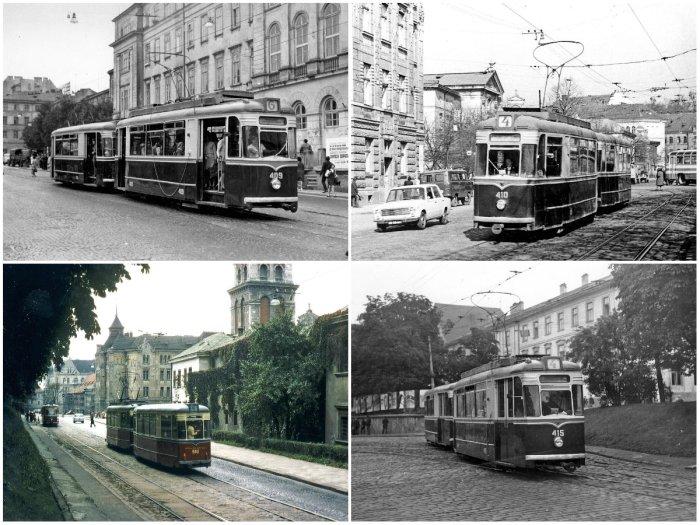 Трамвай Gota T-57 на старій фотографії.