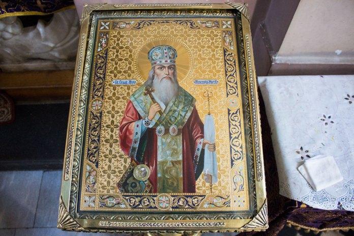 Ікона Святого Макарія з часточкою мощей