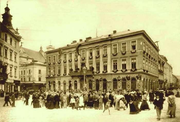 Будинок на площі Марійській, 9. Фото 1894 року