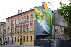Витвір польського художника на вулиці Чорновола