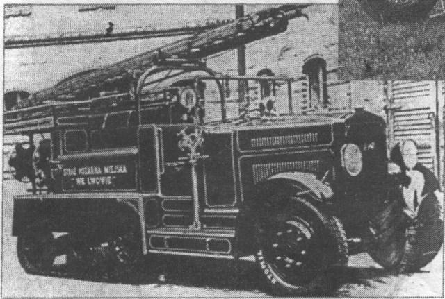 """Пожежний тягач фірми """"Унія старжацька""""."""