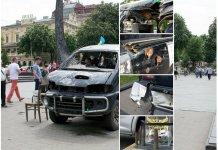 У центрі Львова збирають гроші на автомобіль для АТО