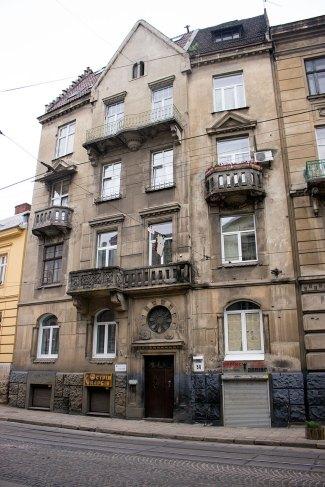 Вулиця Зиблікевича, 24 (тепер вул.І. Франка, 54) де було перше помешкання молодої сім'ї Грушевських