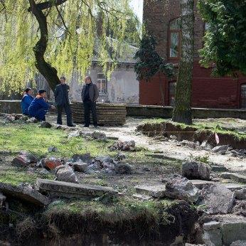 Спорудження пам'ятник Михайлові Вербицькому у Львові