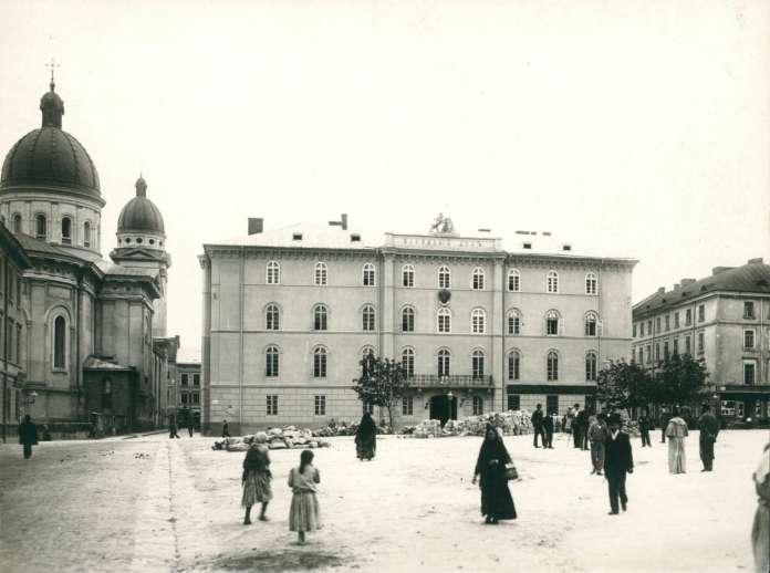 Будівля Народного дому на вулиці Театральній. Фото 1894 року