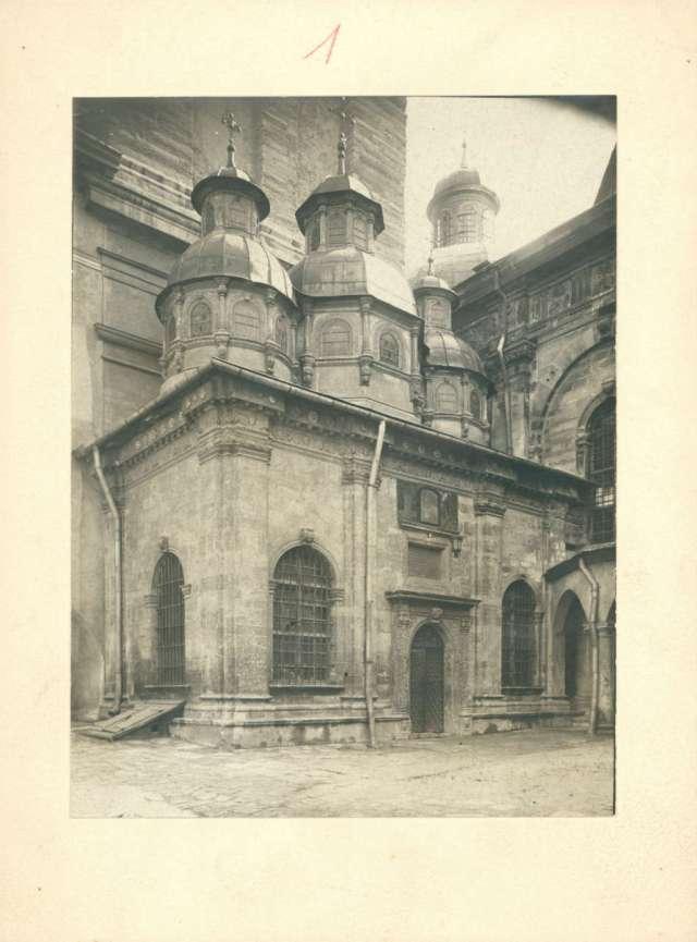 Загальний вигляд каплиці. Фото Косцєші-Яворського. 1916 рік