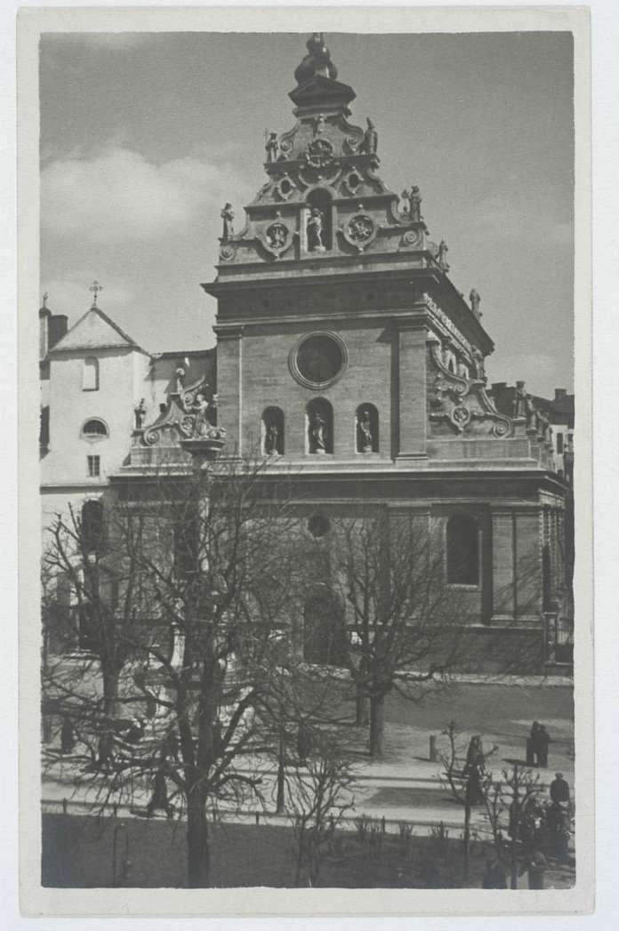 Костел Святого Андрія ордену бернардинців. Фото до 1939 року