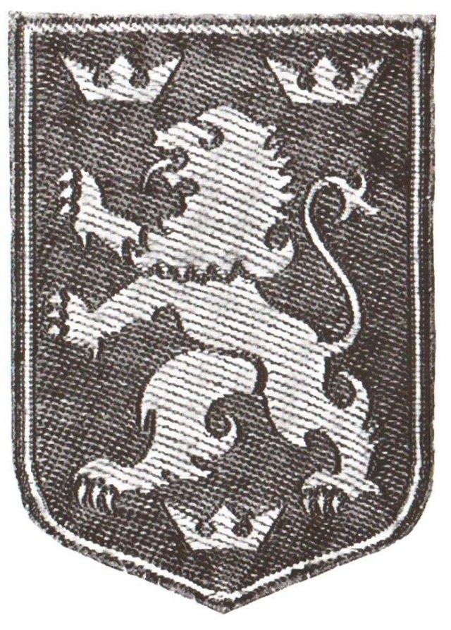 Відзнака для вояків Дивізії на рукав (жовтий лев на синьому тлі)