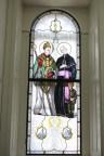 Вітраж із зображенням львівських святих.