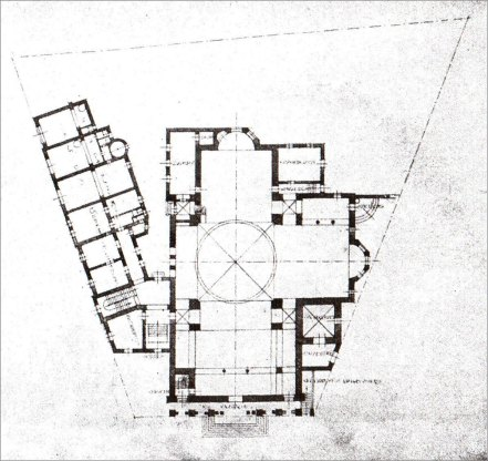 Костел Св. Анни. Конкурсний проект В. Ґжимальського. План, 1911 р.