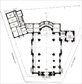 Костел Св. Анни. Конкурсний проект С. Пайдзерського. План, 1911 р.