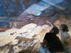 Реставрація стінопису Гарнізонного храму. Фото - Капеланство.info, 2015 рік.