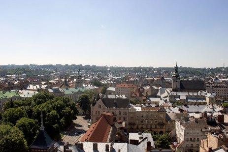 Панорама Львові з вежі Корнякта