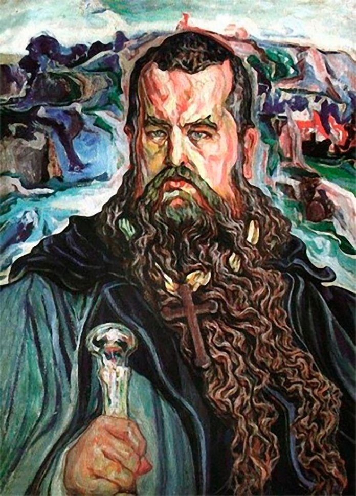 """Картина Олекси Новаківського """"Мойсей"""" із портретом Андрея Шептицького"""