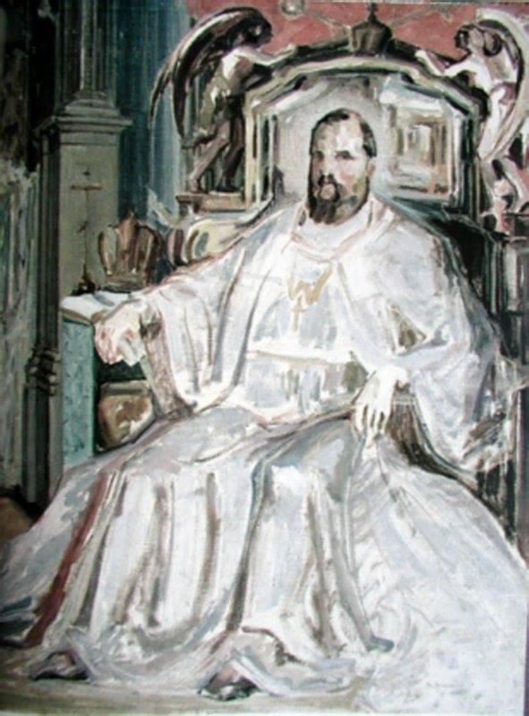Портрет Митрополита Андрея Шептицького («У митрополичому кріслі»). Ескіз, 1924 р.