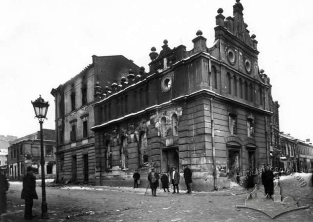 Вигляд хасидської синагоги на вул. Сянській, 4 після пожежі