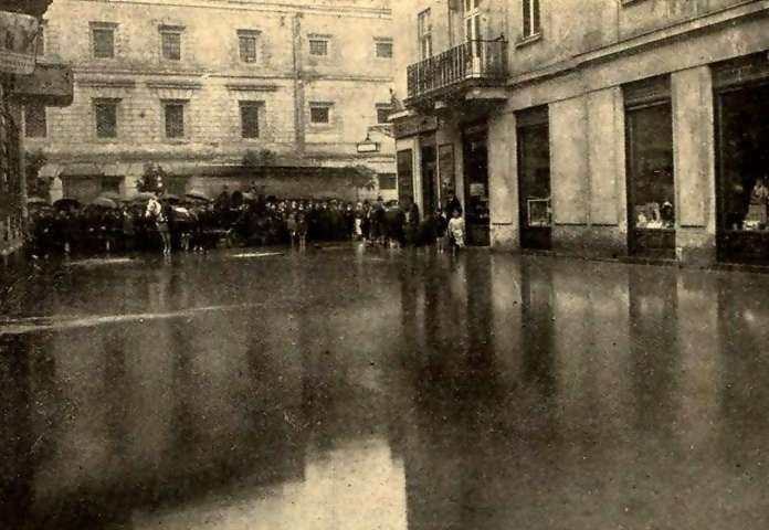 Затоплена вулиця Коллонтая (нині Менцинського). Фото 1914 року