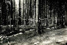 Могили вояків легіону УСС на Маківці.