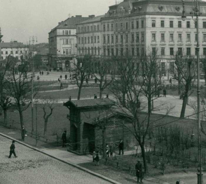 МАФ у закопанському стилі із черепичним дахом на сучасному пр-ті Свободи. Фото 1925 року