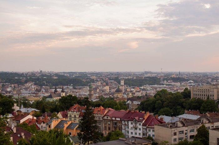 Краєвид з Лисої гори (або з гори князя Лева) у Львові