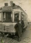 Львів. Трамвай на вул. Нової Різні (тепер Промислова), фото 1950 року