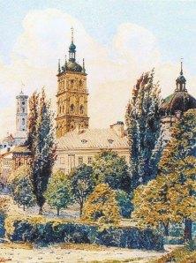 Успенська церква. Акварель А.Каменобродського. Поч. XX ст.