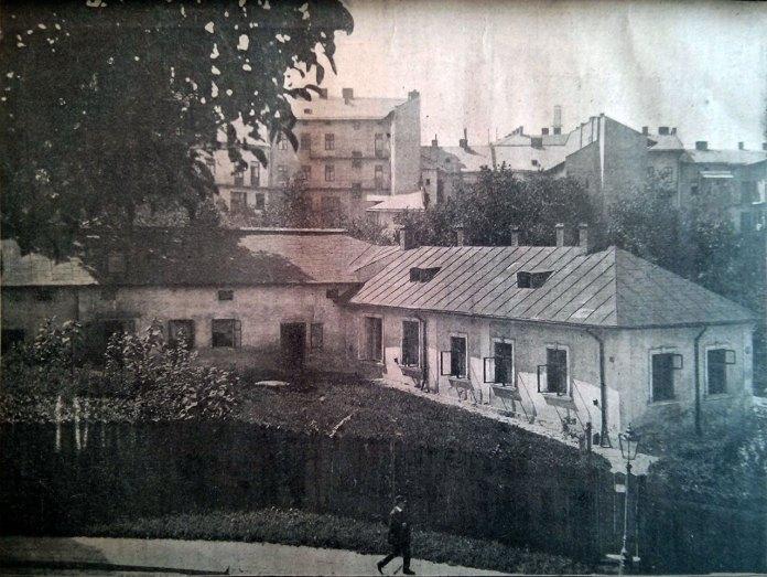 """Приміщення """"Народній лічниці"""" у Львові, фото початку ХХ століття"""