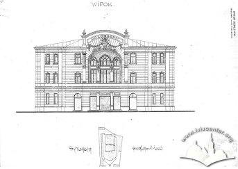 Ситуаційна схема і головний фасад будинку ДАЛО