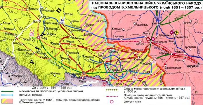 Національно-визвольна війна українського народу під проводом Богдана Хмельницького (1651-1657 рр.)