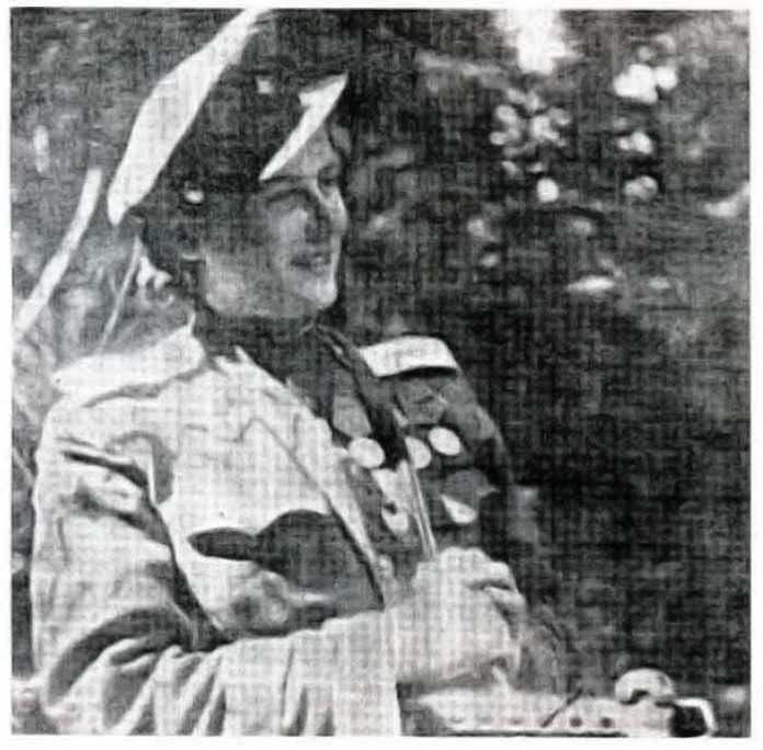 Ірина Козак (Савицька) - в уніформі ст. лейтенанта ЧА. Фото: www.istpravda.com.ua