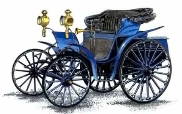 Автомобіль «Benz-Victoria». Такий вигляд мало авто, яке першим з'явилося у Львові в 1897 році.