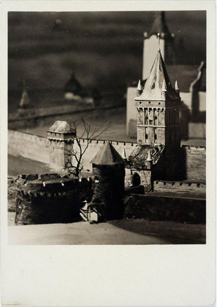 Галицька брама на пластичній панорамі Львова Януша Вітвіцького, 1938 рік