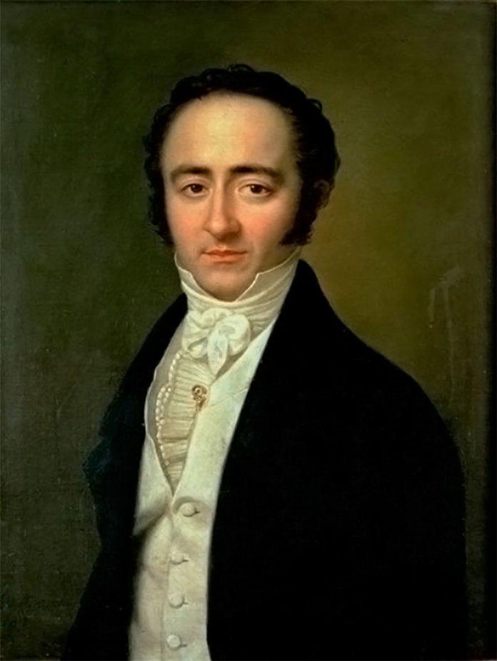 Франц Ксавер Вольфганг Моцарт на портреті К. Швайкарта (бл. 1825 р.)