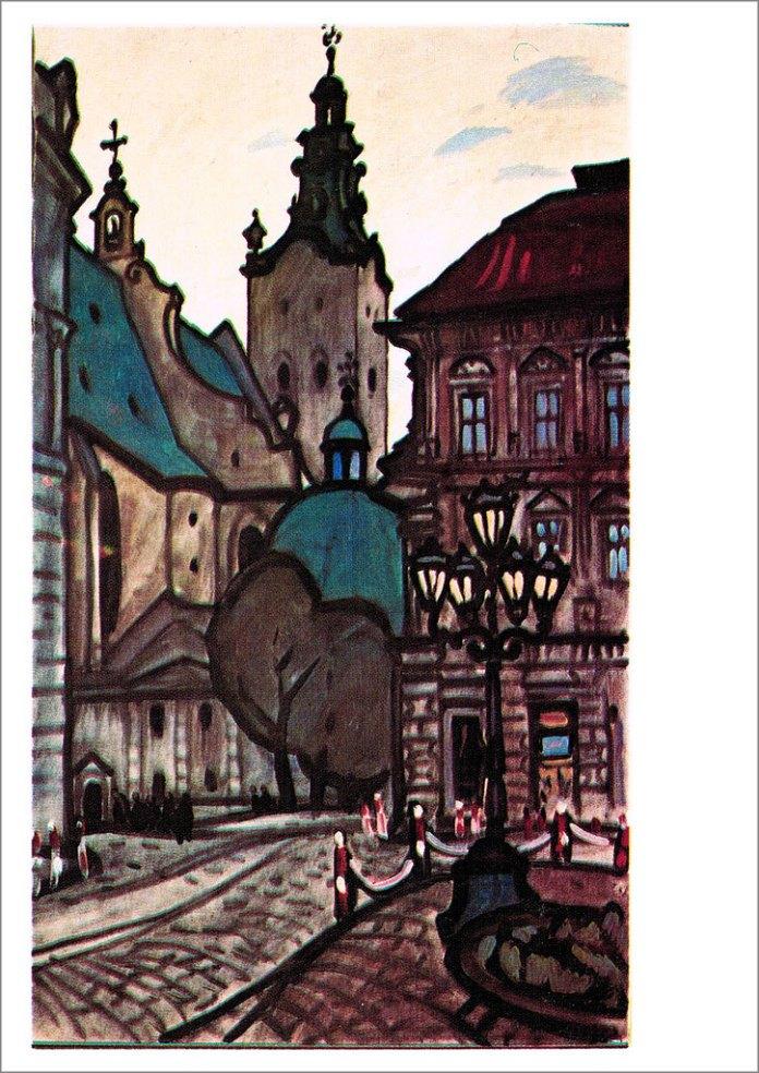 Львів. Вигляд на Кафедральний собор. Автор Юрій Химич