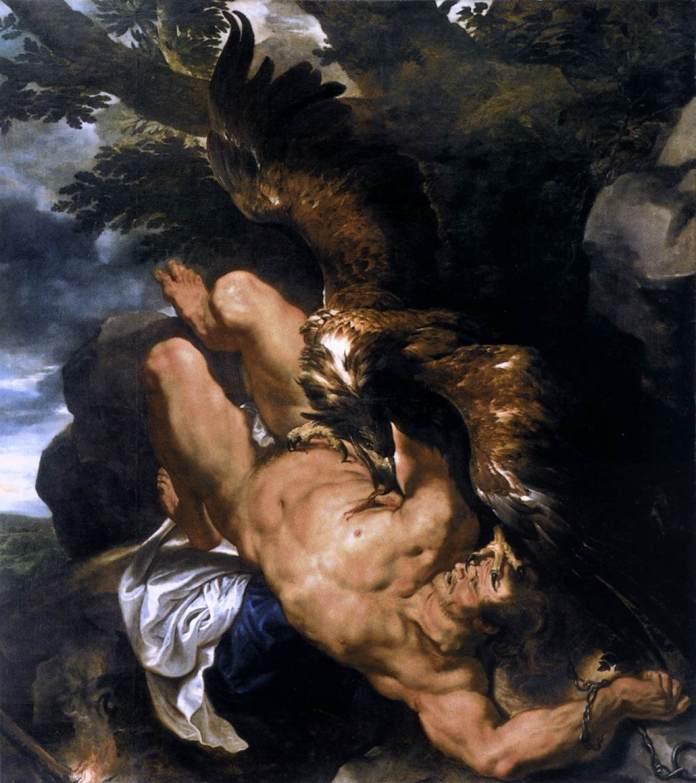 Пітер Пауль Рубенс. Прикутий Прометей, якого роздирає орел Зевса, 1610 - 1611 рр