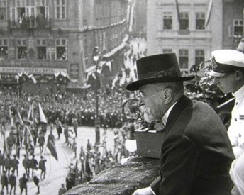 «Сокільський» парад в Празі 1926р (спостерігає президент Т. Масарик)