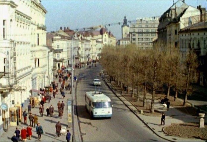 Алея проспекту Шевченка. Фото 1960-1970-х рр.