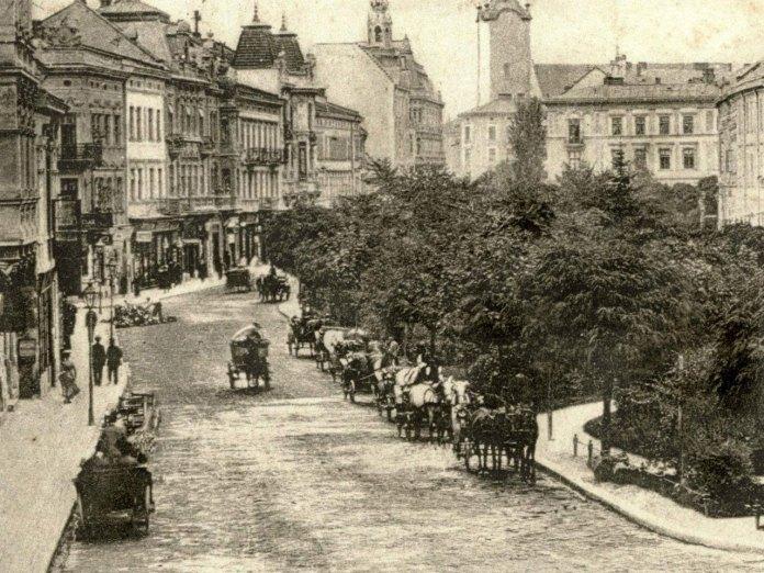 Первісний вигляд бульвару на вулиці Академічній (пр. Шевченка). Фото початку XX ст.