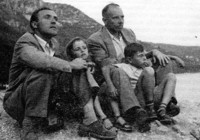 Бандера з дітьми. Зліва направо: Микола Климишин, Леся, Андрій і Степан Бандера