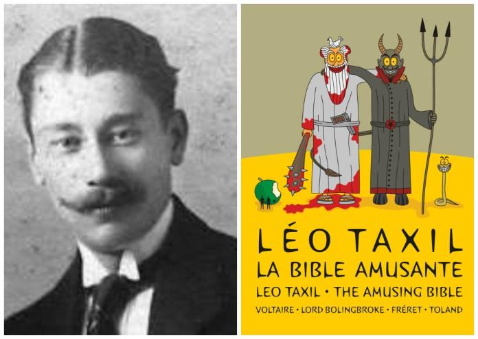 Реальний Лео Таксіль і одна з його книг