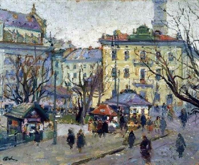 Ерно Ерб. Вид Львова, 1930 рік