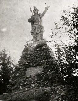 Пам'ятник після свого відкриття у 1906 р. Фото з тижневика Nowości Illustrowane, 1906.