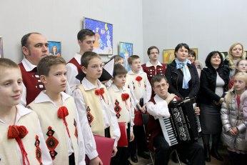 Львівська державна академічна чоловіча хорова капела «Дударик» на відкритті виставки «Ой хто, хто Миколая любить»