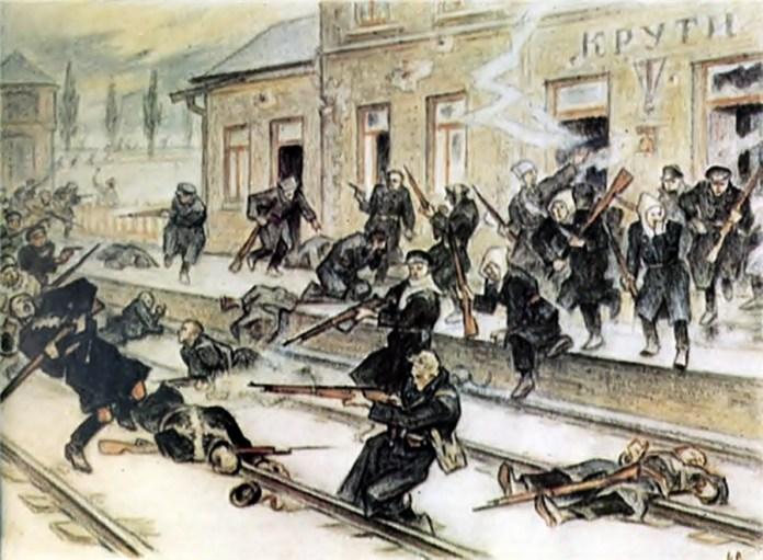Л. Перфецький. «Бій під Крутами». Фото з сайту wikipedia.org