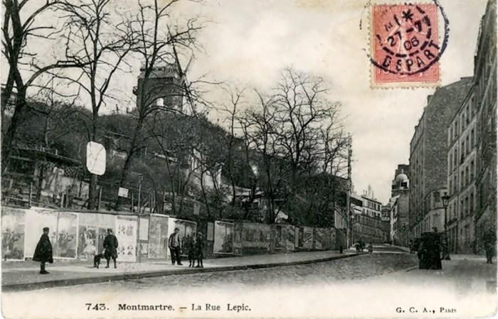 Монмартр, вулиця Рю Лепік, поч. ХХ ст. Фото з сайту gazeta.ua