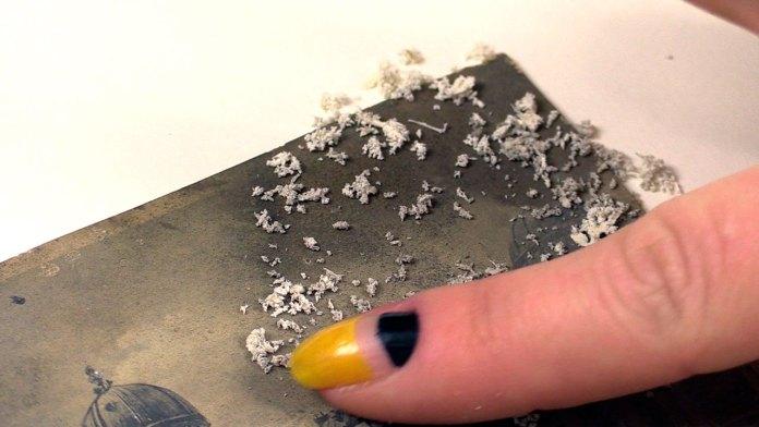 Фізичне очищення поверхні поштівки