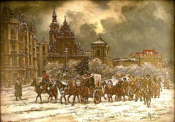 Тадеуш Рибковський. Різдво 1914 року у Львові